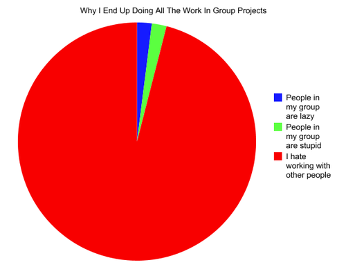 doing all the work in a group project